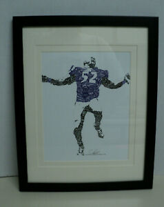 Ray Lewis Baltimore Ravens Christopher Nix 19X19 print with matting/frame #6065