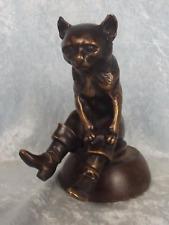 Circa 1920's Hansi Siercke Car Mascot Bronze Puss In Boots