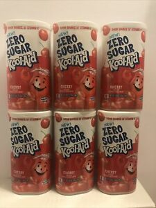 Lot of 6 Kool-Aid Zero Sugar Cherry Each Packet Makes 2 Quarts BB 2/2020 SEALED