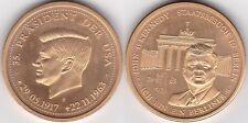moderne Medaille John F. Kennedy, etwa 30 mm & 13 Gramm