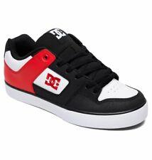 Tg 42 - Scarpe Uomo Skate DC Pure Black Red Nero Rosso Sneakers Schuhe 2019