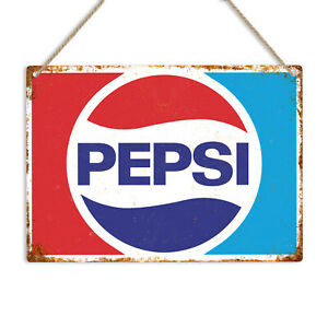 PEPSI Cola Vintage Retro Style Metal Tin Wall Sign Pub Bar Kitchen Man Cave Coke