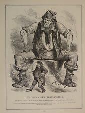 """7x10"""" PUNCH cartoon 1906 /245 THE BRUMMAGEM FRANKENSTEIN john bright suffrage"""