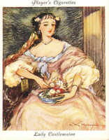 players cigarette large card. famous beauties : lady castlemaine