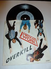 "MEN AT WORK - Overkill - Scarce 1983 7"" Vinyl Single"