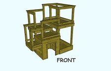 FIVE LEVEL PLAYHOUSE STRUCTURE (PLANS ONLY)