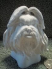 Shih Tzu or Lhasa Apso Dog Head Bust Ceramic Bisque U-Paint Ready To Paint