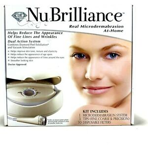NuBrilliance Professional In Home Microdermabrasion Machine System NIB