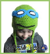 Ninja Turtle Leo Character Hand Made Beanie Crochet Knit Hat Girl's Boy's