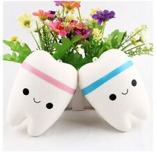 Jumbo Kawaii Squishy Squeeze Toy Smile Cute Tooth Soft Strap Pendant Scented Toy