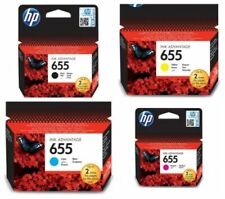 Original HP 655 Ink Cartridge Black Cyan Magenta Yellow Deskjet 3525 4615 4625