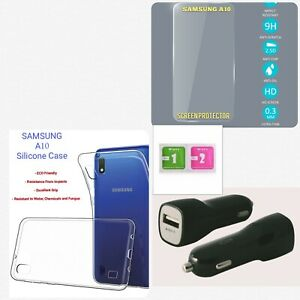 Samsung Galaxy A10 Phone Case Cover Heavy Duty Plastic Screen Potector Pack