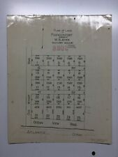 Antique Original 1917 Plan of Land in Harwichport, Massachusetts