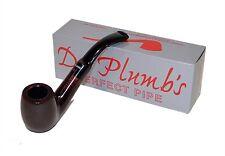 Dr Plumb Standard Large Billiard Bent Saddle Brown Briar Pipe - 4500-5082
