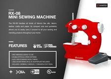 RX08 Mini Portable Sewing Machine Drop In Bobbin For Easy Set Up, Pedal Included