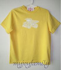 HANNA ANDERSSON 3-D Move It Tee Shirt Warm Sun Dump Truck 140 10 NWT