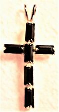 "Cross Pendant, Gold Plated, Simulated Garnet (No Chain) 7/8""l x 9/16""W"