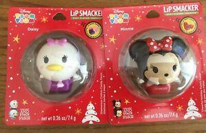 """Lot of 2 Disney """"Tsum Tsum"""" Daisy & Minnie Lipsmacker  BNIB, Free Shipping"""