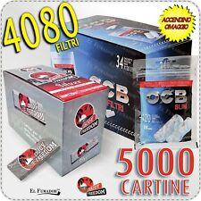 4080 Filtri OCB SLIM 6mm + 5000 Cartine ENJOY FREEDOM SILVER CORTE 100 Libretti