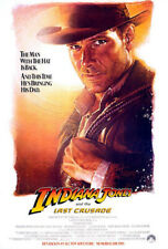 Indiana Jones and the Last Crusade (1989) original movie poster adv - ss -rolled