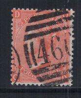Großbritannien 1865 Mi. 24 Gestempelt 80% Vier Pence, Sieg