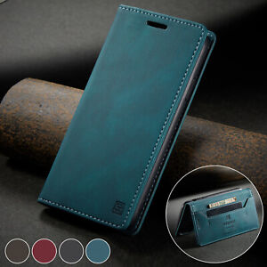 For iPhone 12 11 8 Plus 7 SE 2020 Magnetic Leather Flip Wallet Card Case Cover