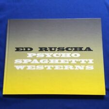 ED RUSCHA: PSYCHO SPAGHETTI WESTERNS - 1ST. ED. WITH PRINTED ANNOUNCEMENT CARD