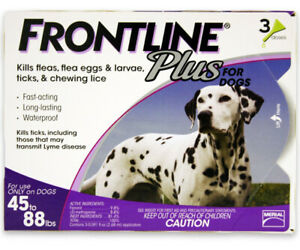 FRONTLINE - Frontline Plus Flea and Tick Control for 45 to 88-Pound Dogs 3 Doses
