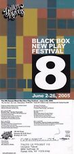 BLACKBOX NEW PLAY FESTIVAL 2005 ADVERTISING COLOUR POSTCARD