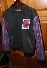 Phoenix Suns Jacket Jeff Hamilton Cotton Leather Large