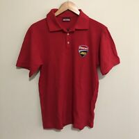 Ducati # 46 Valentino Rossi Polo Shirt MotoGP Grand Prix Racing Red Mens Large