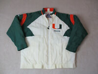 VINTAGE Apex Miami Dolphins Jacket Adult Extra Large White Green UM Football 90s
