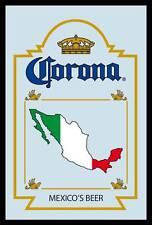 Corona Mexicos Beer Bier Nostalgie Barspiegel Spiegel Bar Mirror 22 x 32 cm