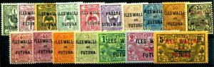 WALLIS et FUTUNA 1920 Yvert 1-17 * 48€(F1618