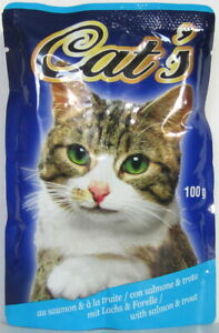 168 x 100g Katzenfutter Junior/Kitten 2 Sorten Huhn/Lachs Pouchbeutel