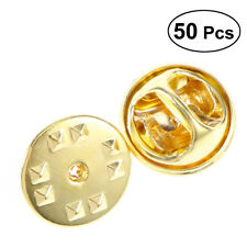 50 Pieces Brass Butterfly Clutch Badge Insignia Clutches Pin Backs Replacement