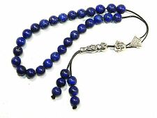 0072 - Prayer Beads - Loose Strung 8mm Genuine Lapis Lazuli Gemstone Beads