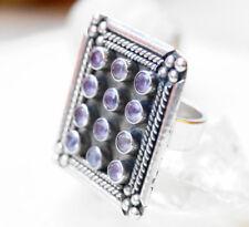 Design Silberring 57 Handarbeit Amethyst lila Silber Ring Riesig Eckig Massiv
