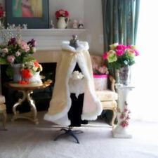 Winter Children Wedding Flower Girl Cloak Faux Fur Trim Little Girls Jacket Cape