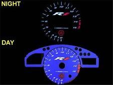 Yamaha YZF R1 Blue Face Glow Gauges Illumiglo Plasma MPH KMH Dials