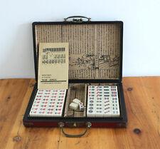 Mahjong Exquisite 144 Tiles Set With wood leather Dragon&Phoeni Box