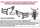 """ROYAL ENFIELD """"NEW CLASSIC & METEOR 350"""" AIRFLY ENGINE GUARD BLACK"""