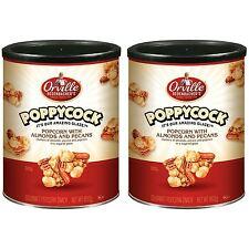 2x Poppycock Popcorn+Mandorle & Noci pecan noci in Zuccherato Velata Gourmet