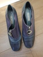 MARC JACOBS LEATHER ANKLE  ZIP FRONT BLUE  MIX BOOTS SIZE EUR 39.5 , UK.6.5