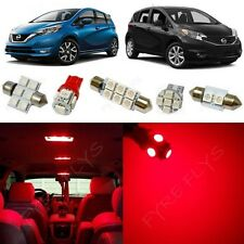 6x Red Interior LED Light Package Kit fits 2014-2017 Nissan Versa Note NV1R