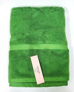 NEW KATE SPADE GRASS GREEN 100% COTTON BATH TOWEL