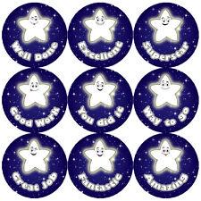 144 Night Star Praise Words 30mm Children's Reward Stickers for Teacher, Parent