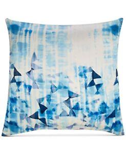 "Sunham Barret 100% Silk 20"" x 20"" Geometric Decorative Pillow - Blue Multicolor"