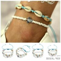 Boho Handmade Shell Beads Anklet Beach Sea Sandal Bracelet Foot Ankle Jewelry