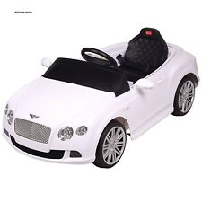 CLEARANCE BENTLEY LICESEND GT 12V CONTINENTAL SPORTS RIDE ON CAR WHITE